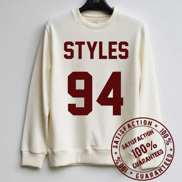Styles 94 Sweatshirt Harry Styles Sweater 1D Hoodie Shirt – Size XS S M L XL