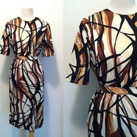 CARAMEL DRIZZLE Skirt Set / Jeanne Durrell Dallas / 1960s Two Piece Skirt Set