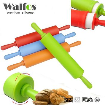 Walfos 30 cm Non-stick fondant rolling pin for kids Fondant Cake Dough Roller Decorating Cake Roller crafts Baking cooking Tool