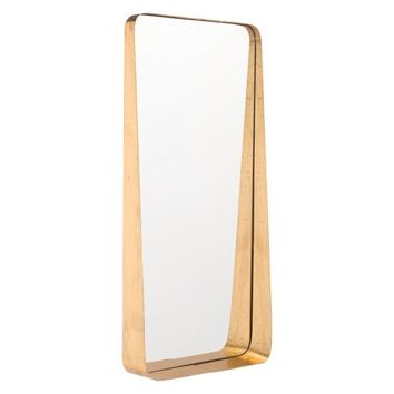 "ZM Home 30"" Modern Rectangular Mirror Gold"