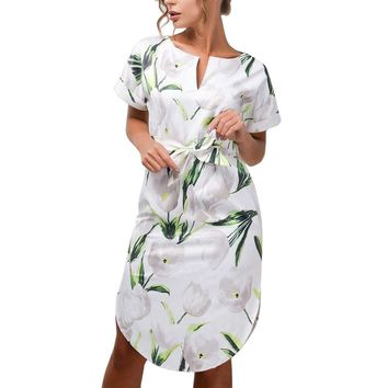 Claire Floral Dress - Green
