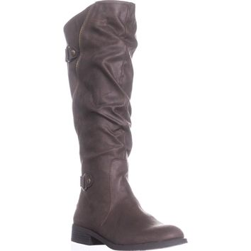 White Mountain Leto Slouch Knee High Boots, Coffee, 8.5 US