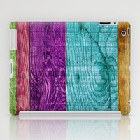 Colorful Wood  iPad Case by Beth - Paper Angels Photography