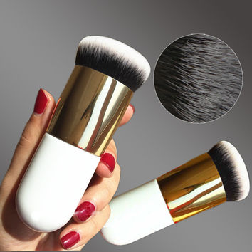 Chubby Pier Foundation Flat Cream Makeup Professional Cosmetic Make-up Brush