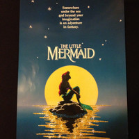 Disney The Little Mermaid Glitter Poster