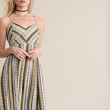 Palms Printed Maxi Dress