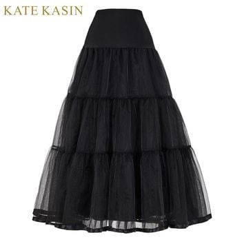 Vintage Dress Petticoat for Wedding Retro Crinoline Women Wedding Accessories Black White Long Petticoats Underskirt