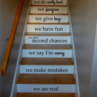 In This House Quote Staircase Wall Vinyl Decal Sticker Decals Room Decor Words Tattoo