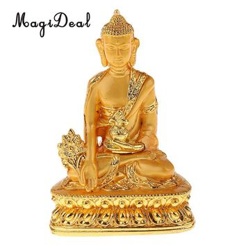 Meditation Buddha Statue Religion Sculpture Buddhist Pharmacist Figurine Bless Family Home Efficacious Protection