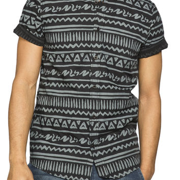 Guys Horizontal Stripe Print Shirt