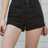 Bullhead Denim Co. Black Cuffed Mom Denim Shorts at PacSun.com