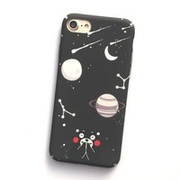 Cute Cartoon Animal Bear Cover For iphone 7 Case For iphone 7 6 6S PLus Phone Cases Fashion Stars Moon Night Capa Coque HOT -0329