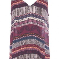 AZTEC TANK/ MAROON by EIGHT SIXTY