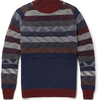 White Mountaineering Patterned Knitted-Wool Sweater | MR PORTER