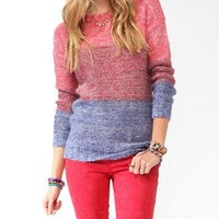 Tri-Color Dropped Shoulder Sweater