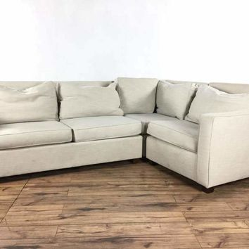 West Elm Contemporary Upholstered Sectional Sofa