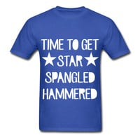 Time To Get Star Spangled Hammered Men's T-Shirt 4th of July Summer Party Tank