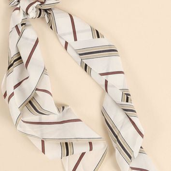 Multi Stripe Scrunchie Scarf