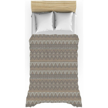 Brown African Mud Cloth Duvet Cover