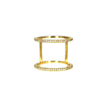 Pave Double Band Ring