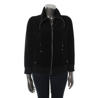 MICHAEL Michael Kors Womens Plus Velour Long Sleeves Athletic Jacket