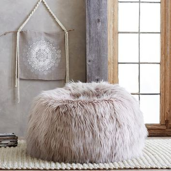 Pallas Cat Faux-Fur Beanbag