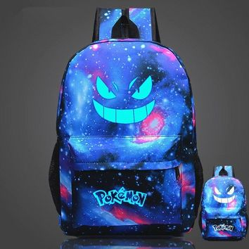 Pouplar Luminous Printing Game  Go Backpack  Gengar Backpacks School Bags For Teenager Girls Mochila FemininaKawaii Pokemon go  AT_89_9