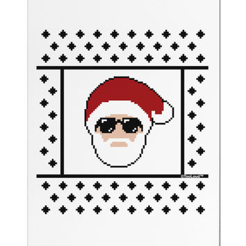 Cool Santa Christmas Sweater Aluminum Magnet