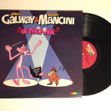 Q Beauty Galway Vinyl Record James Galway and Henry Mancini In The Pink LP Album ...