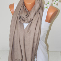 Beige Stone Pashmina-Birdesmaid gift-wedding shawl -Bridal Shawl-Women Accessories-Mother Day gift-Pashmina-gift ideas-Gift For her