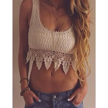 AshleyColeShop.com | Tops | All Of Me Lace Crop Top
