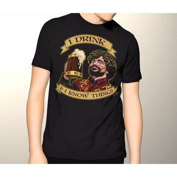 NEW! Game of Thrones Shirt, I Drink Tyrion Lannister Premium T-Shirt, S-5XL
