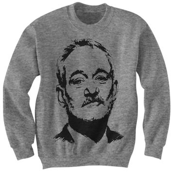 BILL MURRAY SWEATSHIRT BILL MURRAY SKETCH DRAWING SHIRT COOL SHIRTS CELEBRITY SHIRTS #BILLMURRAY BIRTHDAY GIFTS CHRISTMAS GIFTS