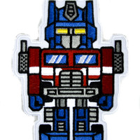 Transformers Optimus Prime Patch Iron on Applique Alternative Clothing