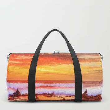 Evening flame Duffle Bag by exobiology