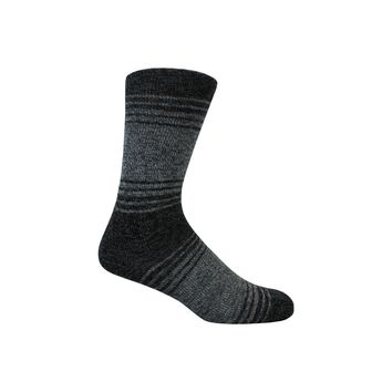 Comfy Stripe Crew Socks in Black