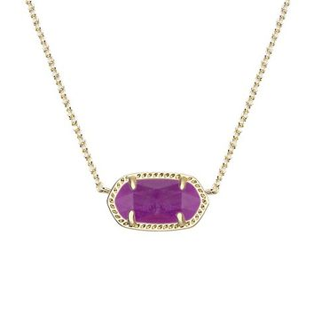 Elisa Pendant Necklace in Purple Jade - Kendra Scott Jewelry