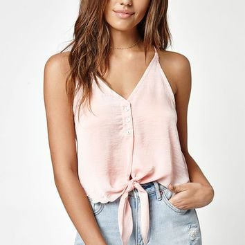 LA Hearts Tie Front Tank Top at PacSun.com