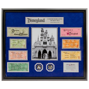Disneyland Commemorative Ticket and Medallion Set - Framed