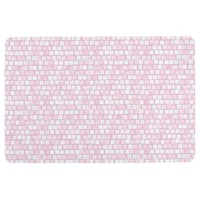 Pink and White Mosaic Floor Mat