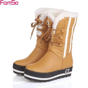 FAMSO Women's Fashion Winter and Snow Boots