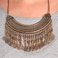 BOHO COIN STATEMENT NECKLACE