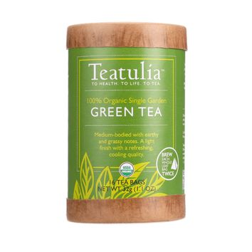 Teatulia Tea - Organic - Green - Eco-canister - 16 Bags - Case Of 6
