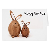 Happy Easter wooden bunnies! Card