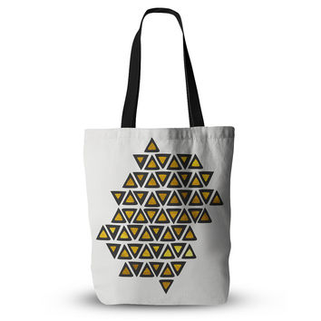 "Pom Graphic Design ""Inca Tribe"" Gold White Everything Tote Bag"