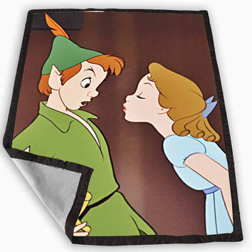 Peter Pan Kiss Blanket for Kids Blanket, Fleece Blanket Cute and Awesome Blanket for your bedding, Blanket fleece *