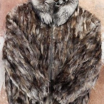 Winter Fur 'Multi-Color' Beaver Fur Coat