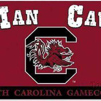 South Carolina Gamecocks MAN CAVE 3x5 Flag w/Grommets House Banner University of