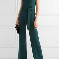 Gabriela Hearst - Lennox belted stretch-wool jumpsuit