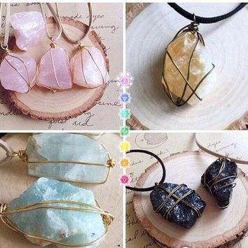Raw Stone Necklace